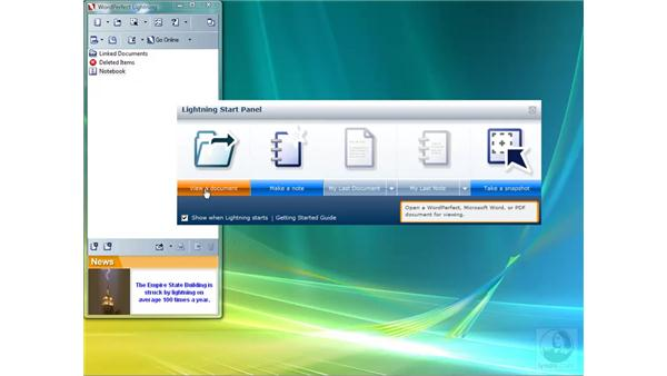 Overview of WordPerfect Lightning: Getting Started with WordPerfect Office X4