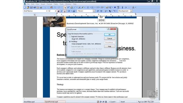 Using QuickFormat: Getting Started with WordPerfect Office X4