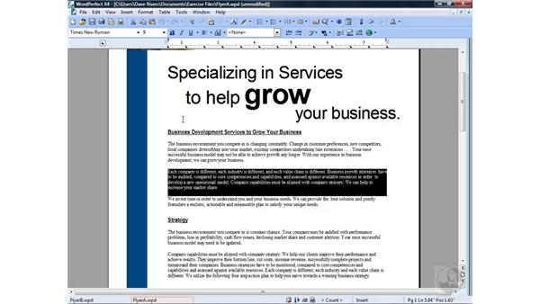 Pasting unformatted text: Getting Started with WordPerfect Office X4