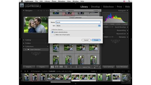 Catalog collections: Lightroom 2 New Features