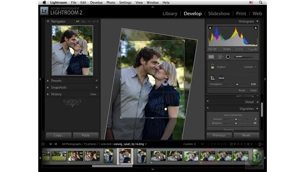 The Vignettes panel: Lightroom 2 New Features