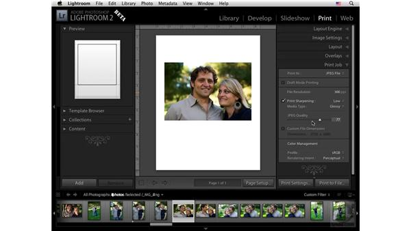 High-quality printing: Lightroom 2 New Features