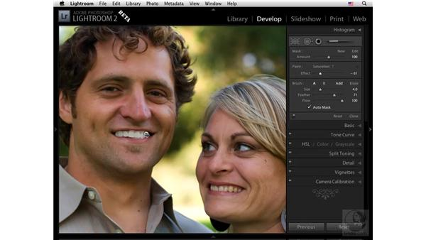Using the Retouch tool to whiten teeth: Lightroom 2 New Features