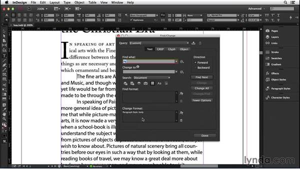 164 Deleting tabs at the beginning of paragraphs and applying a paragraph style: InDesign Secrets