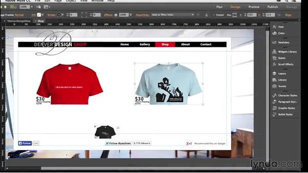 Welcome: Creating a Small-Business Website with Adobe Muse