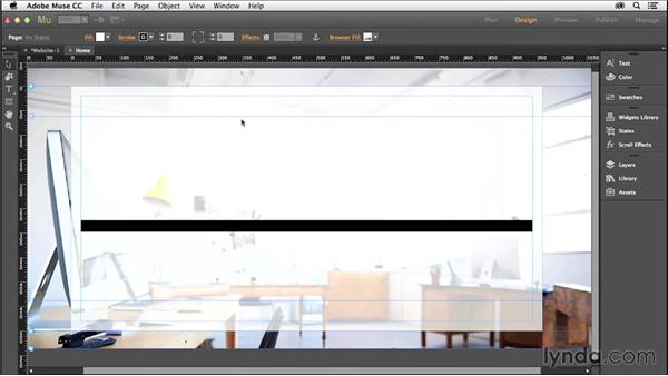 Creating a homepage: Creating a Small-Business Website with Adobe Muse
