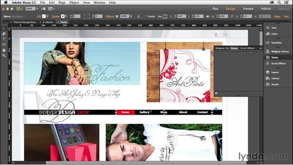 Adding multiple pages and navigation: Creating a Small-Business Website with Adobe Muse