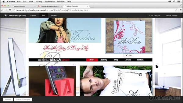 Editing the site in the browser: Creating a Small-Business Website with Adobe Muse