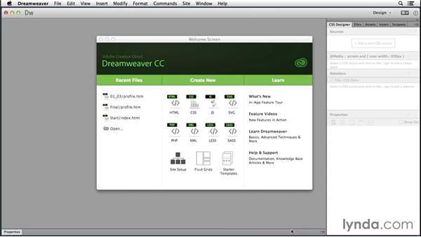 Creating a new fluid grid layout: Responsive Design with Dreamweaver CC