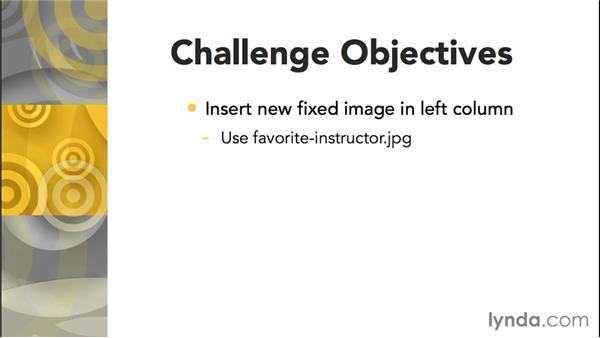 Challenge: Add new media: Responsive Design with Dreamweaver CC