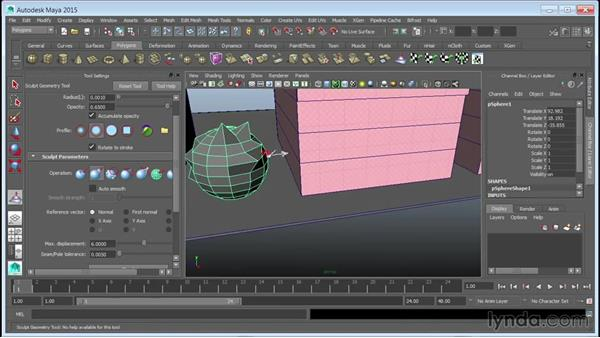 Mocking up tree volumes: Creating Cityscapes in Maya