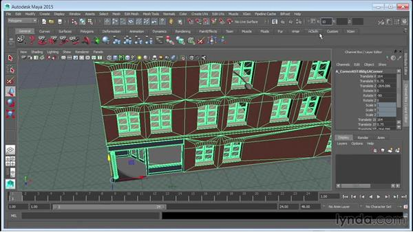 Referencing assets in a scene: Creating Cityscapes in Maya