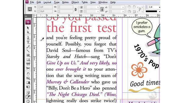 Loading new attributes: InDesign CS3 One-on-One: Style Sheets