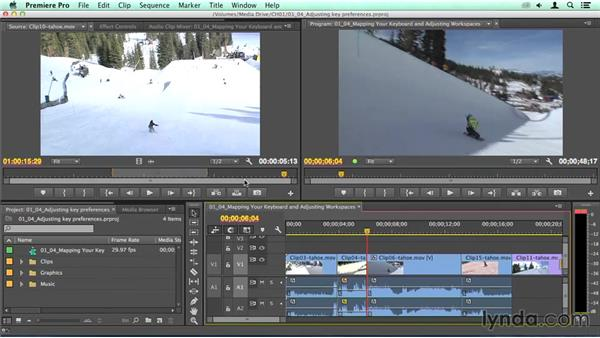 Adjusting key preferences: Migrating from Final Cut Pro 7 to Premiere Pro CC