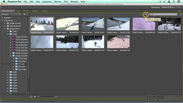 Using the Media Browser for better importing: Migrating from Final Cut Pro 7 to Premiere Pro CC