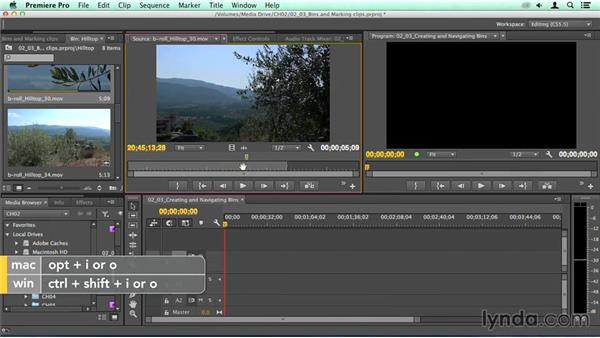 Using bins and marking clips: Migrating from Final Cut Pro 7 to Premiere Pro CC