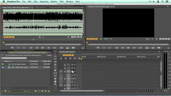 Speed bump: Handling stereo and mono clips: Migrating from Final Cut Pro 7 to Premiere Pro CC