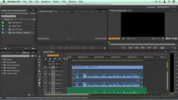 Powerful: Merging dual-capture audio: Migrating from Final Cut Pro 7 to Premiere Pro CC