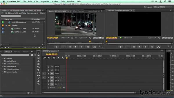 Adjusting frame rates, fields, and alpha channels: Migrating from Final Cut Pro 7 to Premiere Pro CC