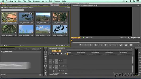 Editing directly from bins: Migrating from Final Cut Pro 7 to Premiere Pro CC