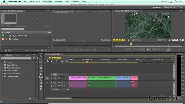 Moving clips on the Timeline: Migrating from Final Cut Pro 7 to Premiere Pro CC