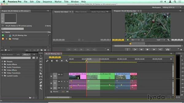 Delete vs. Lift and Extract: Migrating from Final Cut Pro 7 to Premiere Pro CC