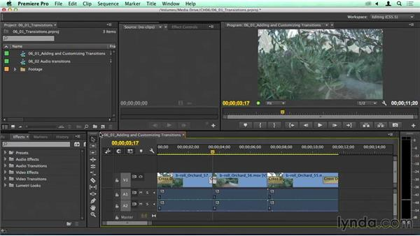 Quickly adding video and audio dissolves: Migrating from Final Cut Pro 7 to Premiere Pro CC