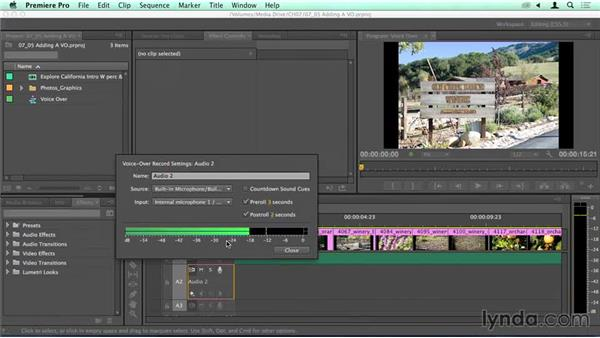 Adding a voice-over (VO): Migrating from Final Cut Pro 7 to Premiere Pro CC