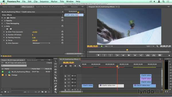 Copy, Paste, and removing effects and attributes: Migrating from Final Cut Pro 7 to Premiere Pro CC