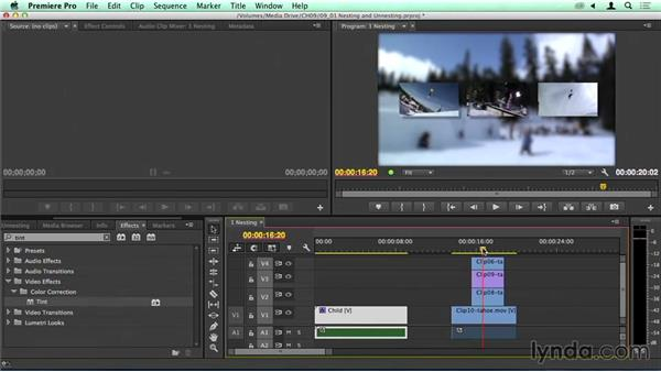Nesting and unnesting clips: Migrating from Final Cut Pro 7 to Premiere Pro CC