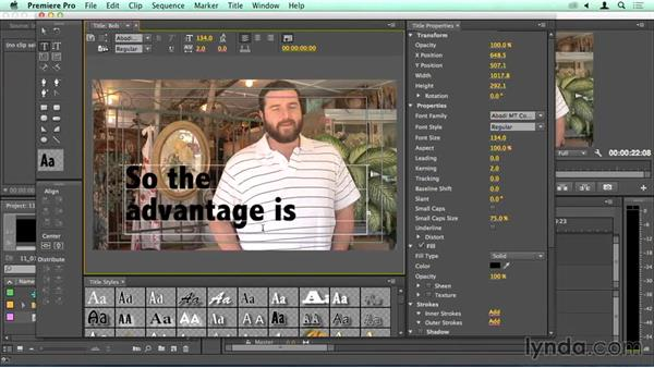The basics of titling, including pair kerning: Migrating from Final Cut Pro 7 to Premiere Pro CC