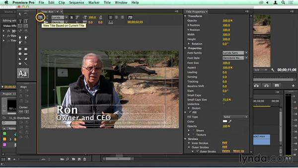 Speed bump: Editing with titles: Migrating from Final Cut Pro 7 to Premiere Pro CC