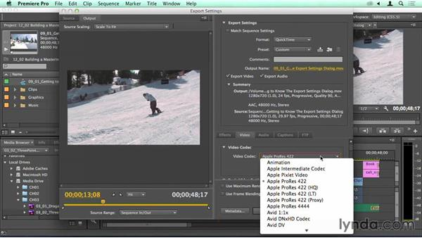 Creating a custom ProRes master output: Migrating from Final Cut Pro 7 to Premiere Pro CC