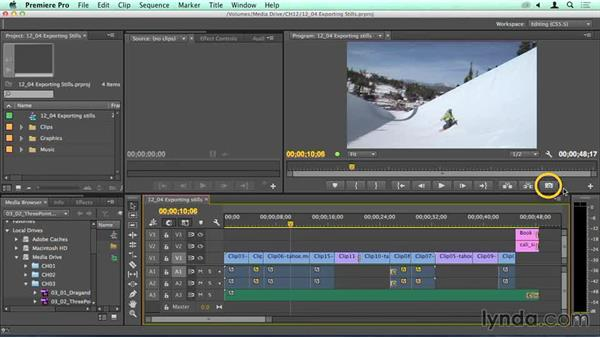 Speed bump: Exporting still images: Migrating from Final Cut Pro 7 to Premiere Pro CC