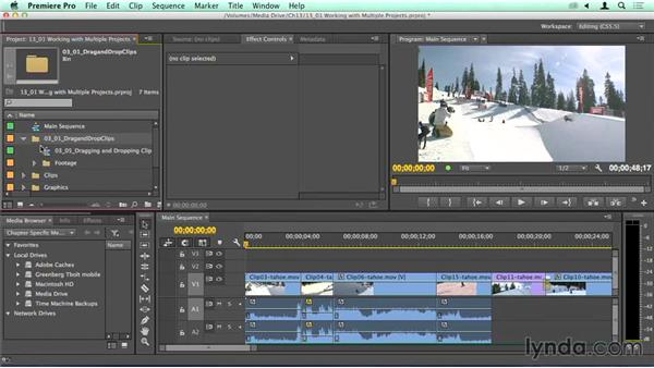 Importing and working with multiple projects: Migrating from Final Cut Pro 7 to Premiere Pro CC