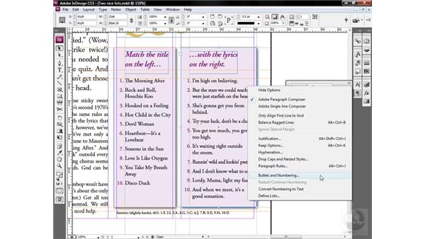 The power of the local override: InDesign CS3 One-on-One: Style Sheets