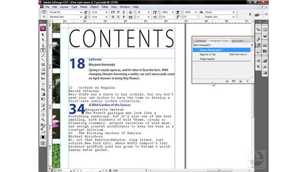 The better way to create a style: InDesign CS3 One-on-One: Style Sheets