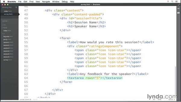Adding form elements: Multidevice Prototyping with Ratchet