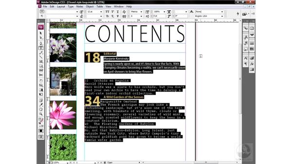 Formatting an entire story in one click: InDesign CS3 One-on-One: Style Sheets