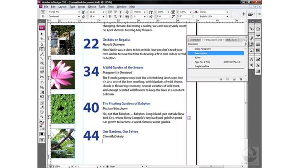 Auto-formatting as you type: InDesign CS3 One-on-One: Style Sheets