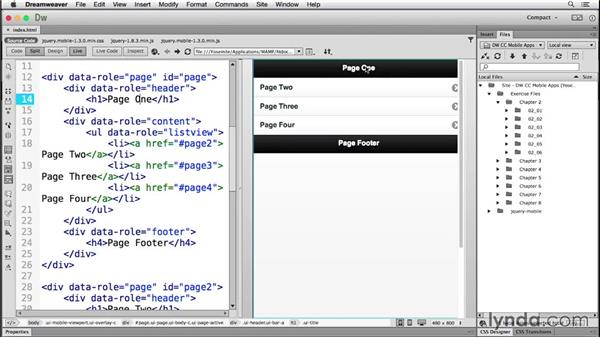 Working with Dreamweaver's mobile starters: Building Android and iOS Apps with Dreamweaver CC and PhoneGap