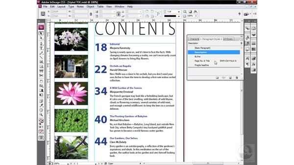 Changing the font for multiple style sheets: InDesign CS3 One-on-One: Style Sheets