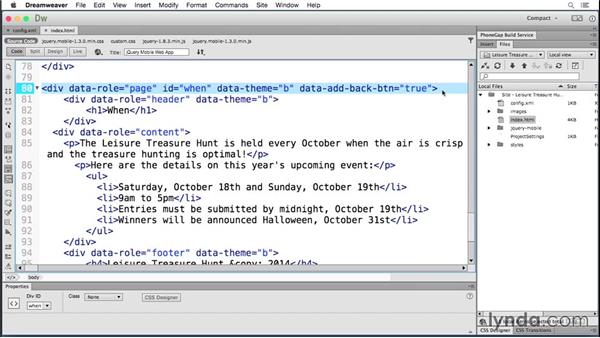 Updating an app: Building Android and iOS Apps with Dreamweaver CC and PhoneGap