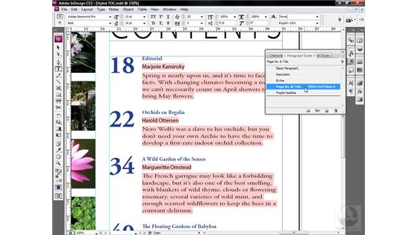 Updating a shared attribute: InDesign CS3 One-on-One: Style Sheets