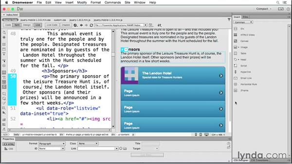 Incorporating images with lists: Building Android and iOS Apps with Dreamweaver CC and PhoneGap