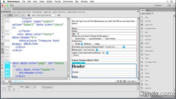 Submitting forms: Building Android and iOS Apps with Dreamweaver CC and PhoneGap
