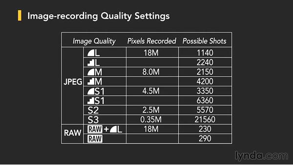 Changing image format and size: Up and Running with the Canon Rebel T4i and T5i (EOS 650D and 700D)