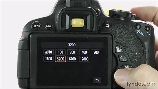 Changing ISO: Up and Running with the Canon Rebel T4i and T5i (EOS 650D and 700D)
