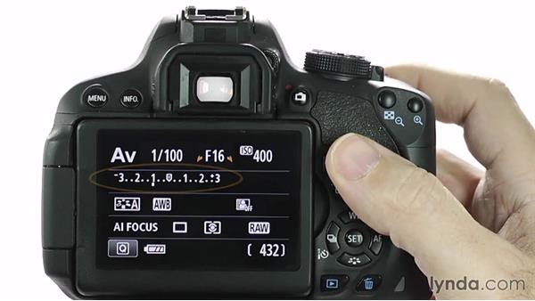 Adjusting exposure compensation: Up and Running with the Canon Rebel T4i and T5i (EOS 650D and 700D)
