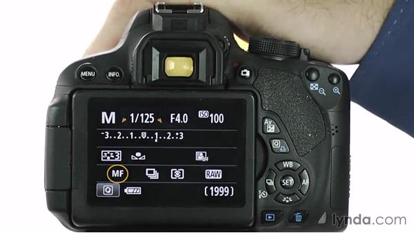Focusing manually: Up and Running with the Canon Rebel T4i and T5i (EOS 650D and 700D)